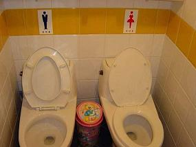 his and hers toilets